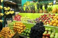 Citriques et agrumes d'un marché péruvien