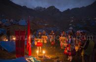 Veillée au campement de Qoyllurit'i