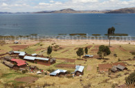 Berge du village de Llachón, Titicaca