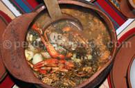 Chupe de camarones precolombien
