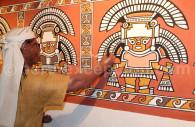 Fresque lambayeque, musée Bruning, Chiclayo
