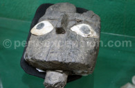 Masque funéraire chancay, Musée Monasterio de la Recoleta d'Arequipa