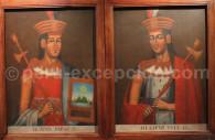 Portraits Huayna Capác y Huascar Inca, Musée Inka de Cuzco