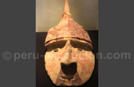 Tête de sarcophage chachapoya, Museo MNAAHP, Lima