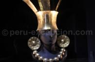 Trousseau funéraire en or chimú, musée Larco