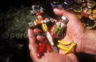 Amulettes sur un marché