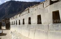 Architecture inca à Ollantaytambo
