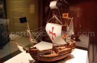Miniature de la caravelle Santa Maria, MNAAP, Lima