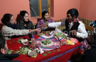 Offrandes à la pachamama, lac titicaca