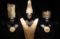 Parures en or vicus, musée larco