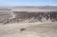 Vue aérienne des paysages de Nazca