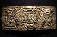 Plaque funéraire chavin en or, musée larco