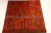 Textile à motifs zoomorphes paracas, MNAAP, Lima