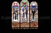 Vitrail des 3 saints patrons du Pérou, Museo Convento Santo Domingo, Lima