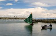Voilier boutre, lac Titicaca