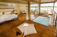 Chambre du bateau Delfin I, croisière sur l'Amazone
