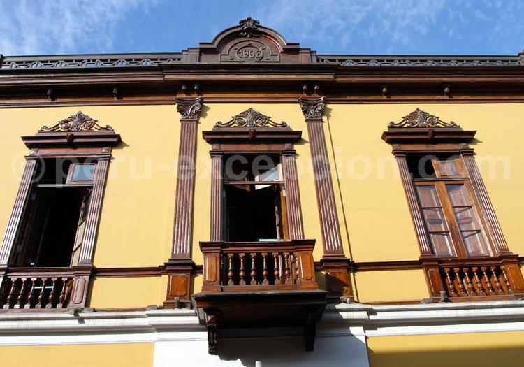 Balcon d'inspiration coloniale, Lima