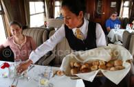 Déjeuner à bord de l'Andean Explorer
