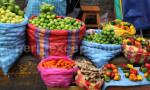 Étalage de fruits et légumes au PérouÉtalage de fruits et légumes au Pérou