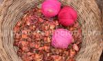 Pelotes de laine roses