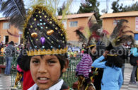 Chapeau traditionnel, région du lac Titicaca, Pérou