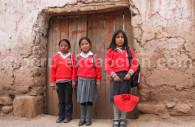 Ecolières en uniforme, Vallée Sacrée, Pérou