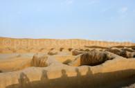 Les constructions d'adobe du site de Chan Chan