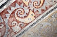 Détail d'une fresque, archéologie au Pérou