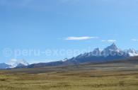 Vue sur la Cordillère blanche entre Huaraz et Chavin