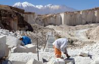 Extraction du minerai, carrière de Sillar