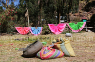 Jupes traditionnelles, Jachapataza, Pérou