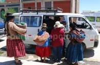 Place centrale d'Acora, Lac Titicaca