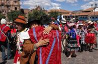 Poncho péruvien