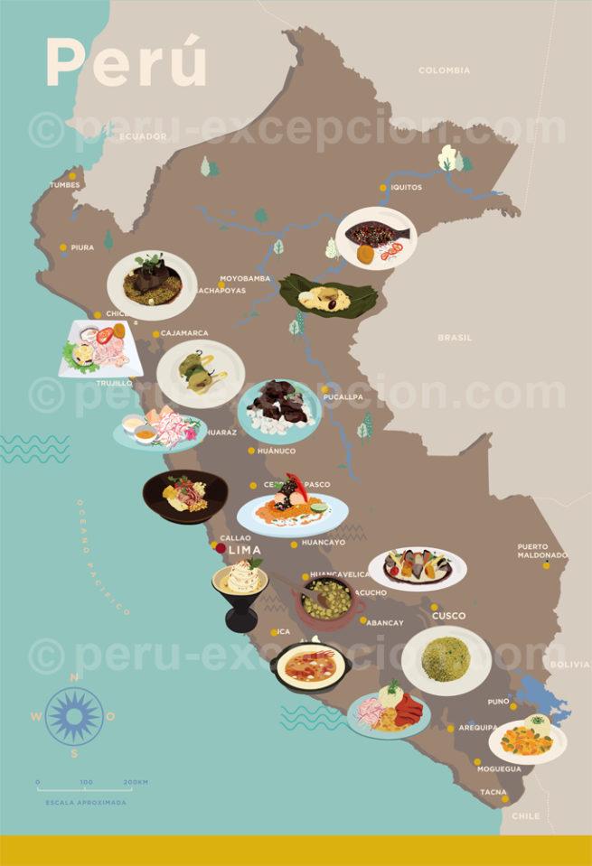 Plats du Pérou par région