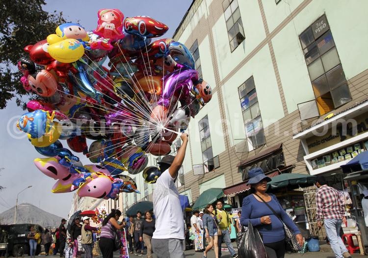 Scène de rue, Lima
