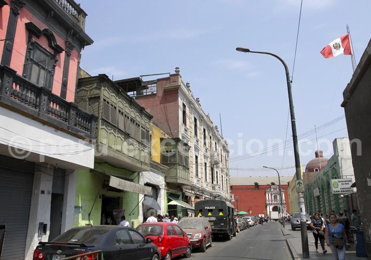 Rue du centre historique de Lima