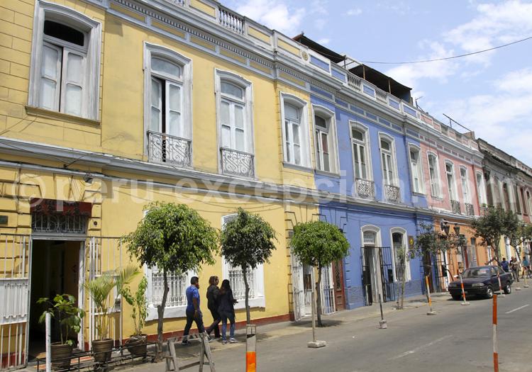 Façades colorées de Lima