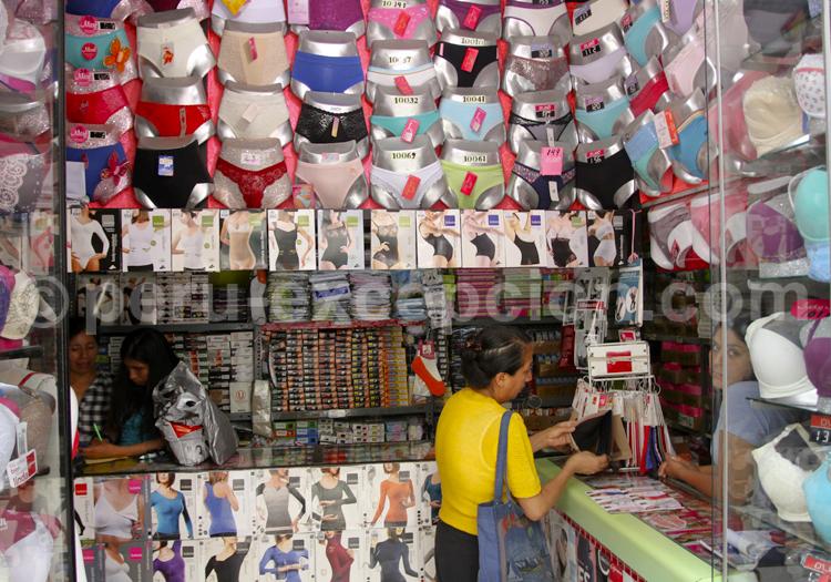 Magasin de lingerie, Lima